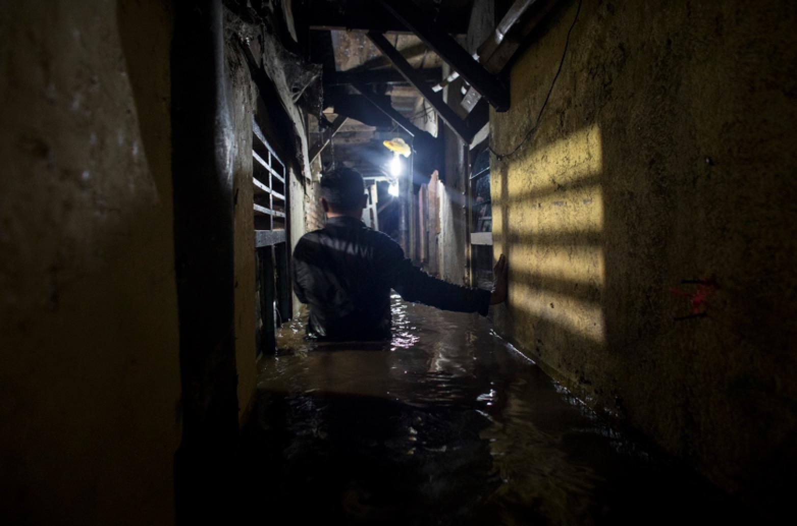 Overstroming in Jakarta